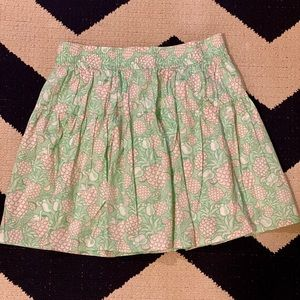Pink and Green Pinapples and Cocktails Skirt
